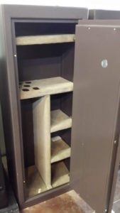 used brown amsec gun safe mint