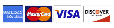 Credit cards that we accept