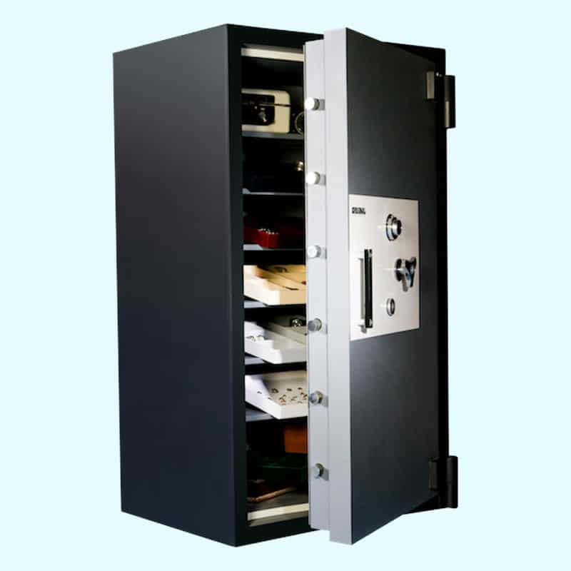 High Security Safe Original Safe & Vault Inc. Platinum High-Security Safe 6434x6 Open. Safe Services