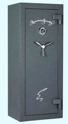 AMSEC SF 5924 60 Minute Fire Protection Gun Safe Charcoal Grey with Keypad Lock and Three Point Handle. Dims Exterior H59 x W24 x D18